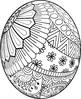Easter Egg Mandalas Theme Coloring Book