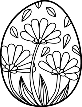 Easter Egg Mandalas Theme Coloring