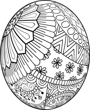 Easter Egg Mandalas Theme Coloring Book by Debbie Madson | TpT