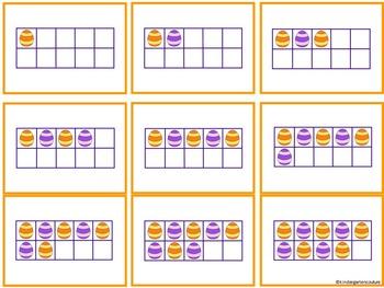 Springtime Match Up - A Ten Frame Number Recognition Game