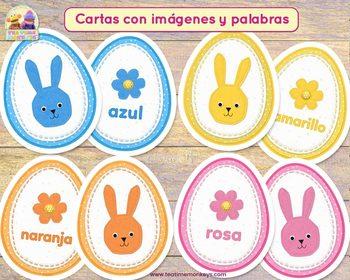 Easter Egg Match in SPANISH: COLORES, NÚMEROS Y TAMAÑOS