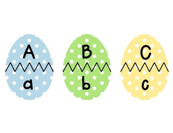 Easter Egg Matching ABC and 123