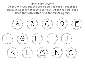 Easter Egg Matching Activity