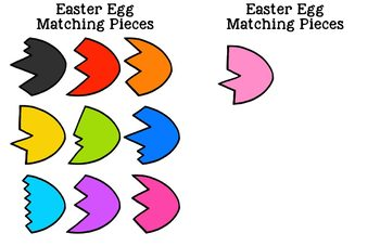 Easter Egg Matching Folder Game for Early Childhood Special Education