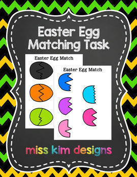 Easter Egg Matching Folder Game for Early Childhood Specia