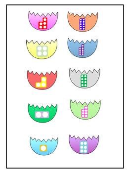 Easter Egg Matching Halves Number Tiles