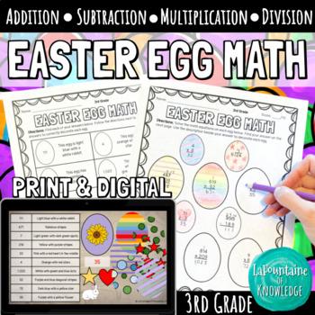 Easter Egg Math - 3rd Grade