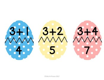 Easter Egg Math Addition Matching Puzzles