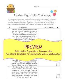 Easter Egg Math Challenge!