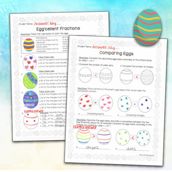 Spring Easter Egg Math: Fractions, Comparisons, and Coordinate Plotting