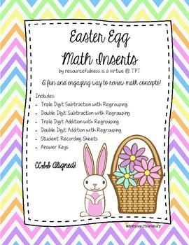 Easter Egg Math Inserts