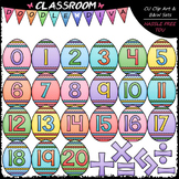 Easter Egg Math Numbers & Symbols - Clip Art & B&W Set