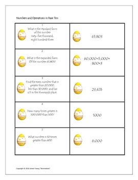 Easter Egg Math Relay Race