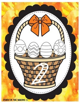 Easter Egg Math Sorting Activity (Includes counting numbers 1-12)