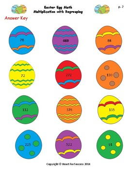 Spring Fun: Easter Egg Math and Eggs in a Basket Multiplication with Regrouping