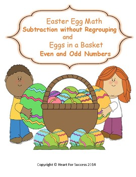 Spring Fun: Easter Egg Math and Eggs in a Basket Subtraction without Regrouping