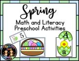 Spring Math and Literacy Preschool Activities