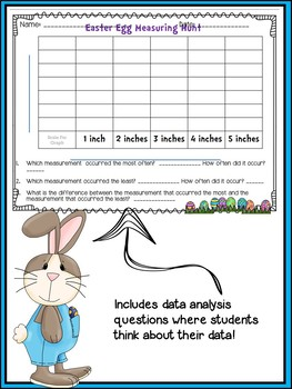 Easter Egg Measurement Graphing Activity