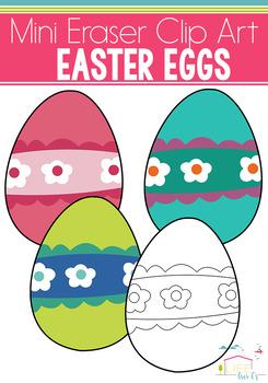 Easter Egg Mini Eraser Clip Art