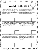 Easter Egg Mixed Addition and Subtraction Word Problems FREEBIE