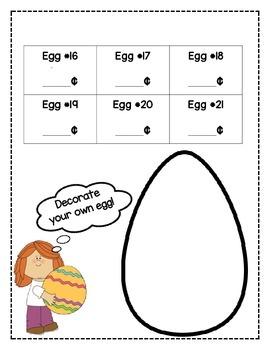 Easter Egg Money Activity