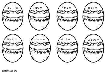 Easter Egg Multiplication Activity