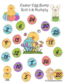 Easter Egg Multiplication Bump Game: Roll 2