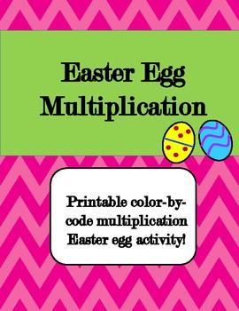 Easter Egg Multiplication-English and Spanish (Free!)