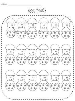 Easter Egg Multiplication Practice Drills Worksheet