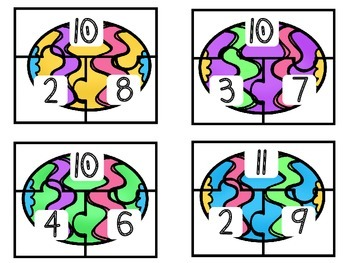 Easter Egg Number Bond Puzzles 10 to 20