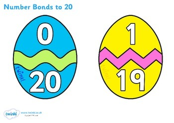 Easter Egg Number Bonds to 20