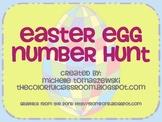 Easter Egg Number Hunt