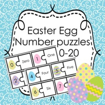 Easter Egg Number Puzzles 0-20