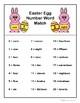 Easter Egg Number Word Match