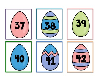 Easter Egg Number cards 1-60