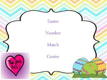 Easter Egg Number match