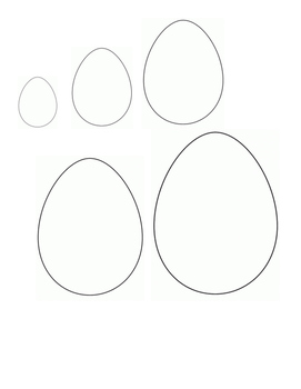 Easter - Egg - Order by Size Black and White