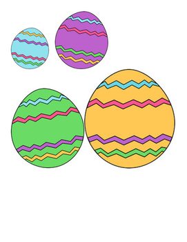 Easter - Egg - Order by Size Colored Eggs