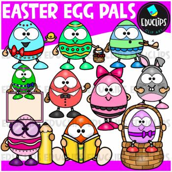 Easter Egg Pals Clip Art Bundle {Educlips Clipart}