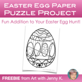 Easter Egg Paper Puzzle Project - Free Easter Activity