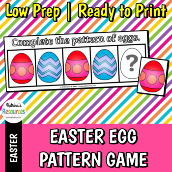 Easter Egg Pattern Activity for Early Math