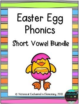 Easter Egg Phonics: Short Vowel Bundle