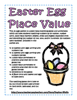 Easter Egg Place Value