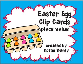 Easter Egg Place Value Clip Cards