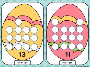 Easter Egg Play Dough Mats - Fine Motor Skills and Number Recognition