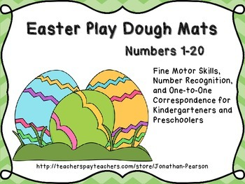 Easter Egg Play Dough Mats - Fine Motor Skills and Number