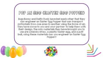 Easter Egg Popper STEM Activity (Take Home Engineering/ Maker)