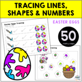 Easter Egg Preschool Activities Tracing Pages