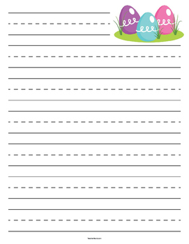 Easter Egg Primary Lined Paper