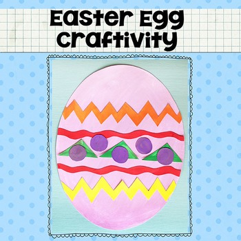 Easter Egg Printable Craftivity Template